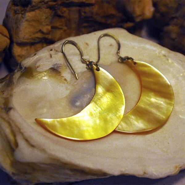 "Ohrhänger ""Goldener Mond""-0"